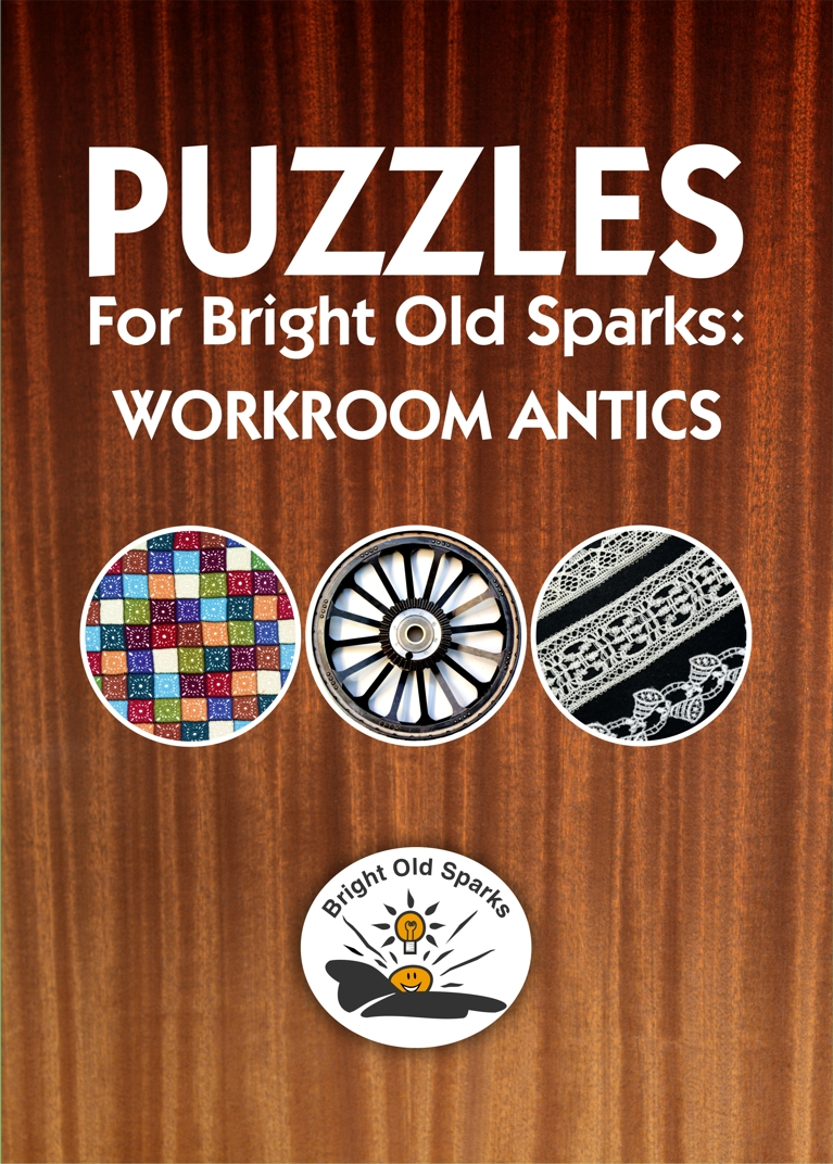 Cover for Puzzles for Bright Old Sparks: Workroom Antics